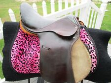 "YOUTH  English  Saddle 16.5"" Medium TREE* BROWN Leather"