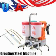 Electric Epoxy Injection Piston Pump Polyurethane Foam Grouting Steel Machine Us