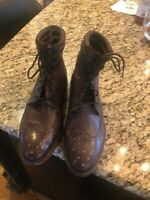 MAGNANNI MADE IN SPAIN CALF SKIN LEATHER BROWN  BROGUE WING TIP MEN'S 10 M