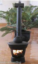 Logger Cast Iron Portable Patio Garden Heater Bbq Chiminea Outdoor Firepit Beach