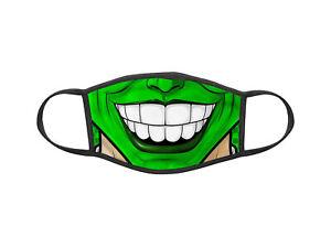 Masque en tissu lavable Collection Bouche geek The Mask smile ref 63
