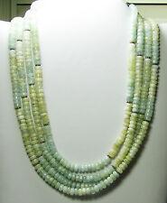 "HSN Diana Venezia Aquamarine 925 Sterling Silver 4-Row 16-1/2"" Necklace"