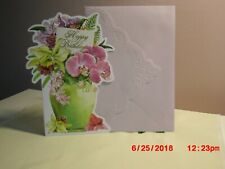 Carol's Rose Garden - Birthday - Beautiful flowers in a green vase on cover