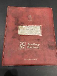AVELING BARFORD MASTER PAVIOR GN888 UPTO COMPACTOR PARTS BOOK ROLLER FORD LISTER