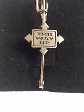 """and Kilt Pin Pewter 3"""" 7.5 cm This Way Up C7 Scarf , Brooch"""