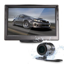 "Wired Car Kit Reversing Camera 170°+ 5"" TFT LCD Monitor Rear View Kit UK Stock"