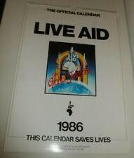 LIVE AID 1986 Calendar Calendario Calendrier David Bowie George Michael Queen U2