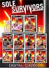2019 SOLE SURVIVORS RED SET OF 10 ASUKA/PHOENIX++ Topps WWE Slam Digital