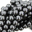 4mm/6mm/8mm/10mm/12mm Perles Rondes en Hématite Noir Bijoux Shamballa Bracelet