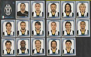 SET 17 FIGURINE CALCIATORI PANINI CHAMPIONS LEAGUE 2008-09 JUVENTUS DEL PIERO