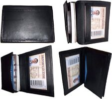 New women men's Leather Business Credit Card ID card Holder fifty cards case BN