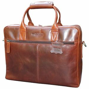 Gladius Italien Leder Tasche Herren Männer Schultertasche für Laptop