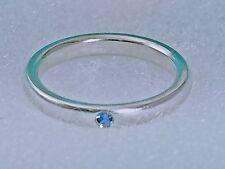 TIFFANY & CO. Peretti  Silver Sterling Stacking Blue Sapphire Ring Sz 5 w/  Box