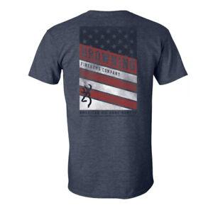 Browning American Big Game Hunter T-Shirt (M)- Heather Navy