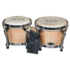 GP Percussion B2 Pro Series Tunable Bongos 6 & 7 Inch (Clear Finish, Hickory)