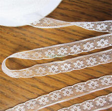 10 Yards Vintage Embroidered Lace Trim Wedding Bridal Dress Ribbon Applique DIY