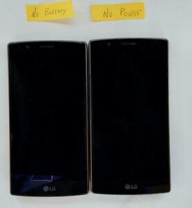 Lot of 2 LG G4 LG-VS986W 986LD Verizon Smartphone ASIS - Fast Shipping!