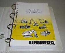 Ersatzteilkatalog Pièces de Rechange Liebherr Bagger R 944 B-HDS Stand 12/2004