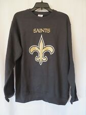 Majestic NFL New Orleans Saints Sweatshirt Long Sleeves Black Size Med  #7112