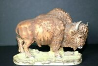 Porcelain Buffalo statue by Andrea by Sadek #5955 Made in Japan Bison Figurine