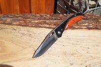 Schweres FOX outdoor Messer  EDELHOLZ  Einhandmesser Taschenmesser Klappmesser