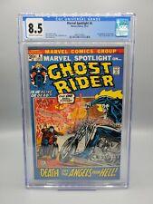 Marvel Spotlight #6 CGC 8.5 2nd appearance GHOST RIDER Origin retold Marvel 1972