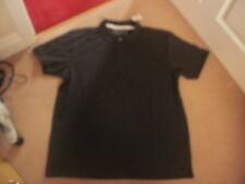 BNWT mens dark grey cotton polo shirt top size L large regular fit FREEPOST