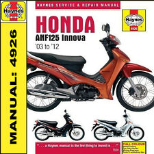 Haynes Manual Honda anf125 Innova Scooter 2003 - 2012 Nuevo 4926