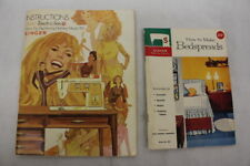 SINGER Model 750 GOLDEN TOUCH & SEW Sewing Machine Manual & BEDSPREADS Booklet