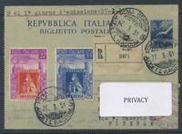 Italien Republik 1951 Sass. 653-654 Ersttagsbrief 100% Erste Briefmarken aus de