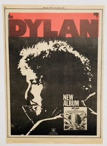 BOB DYLAN 1974 vintage POSTER ADVERT Columbia Records
