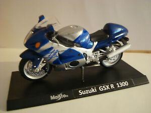 Suzuki GSX R 1300 Hayabusa Blue Silver Super Bikes 1:18