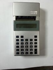 VINTAGE OLIVETTI LOGOS 9 ARGENTO  VINTAGE ANNI 80 OLD CALCULATOR GOOD CONDICTION