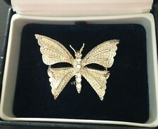 GERRY'S SIGNED - BUTTERFLY BROOCH WITH RHINESTONES