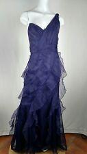 Allen Schwartz off shoulder long evening dress purple size 6 Brand New