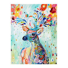 DIY Acrylic Paint By Number Kit Painted Deer On Canvas Home Wall Decor