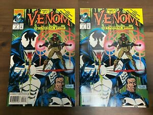 2x Venom Funeral Pyre #3 Marvel comics October 1993 LOT VF/NM with The Punisher