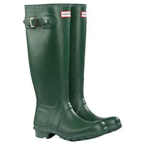 Hunter Women's Original Tall Matte Waterproof Rain Boots - Green