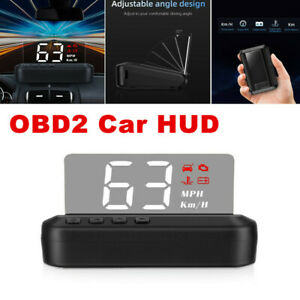 C100 Car HUD Head Up Display Over Speed Warning OBD2 Speedometer Projector