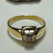 Gold Ring 56 (17,8 mm Ø) 585/14k Diamant 0,03 ct