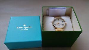 Kate Spade New York Gramercy Script Gold Plated Bracelet Watch KSW1060