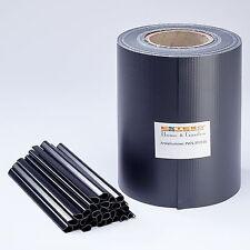 PVC Sichtschutz Streifen Anthrazit 70 M Zaunblende Doppelstabmatten Zaun-Folie
