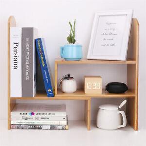 Thick Bamboo Study Office Table Desk Organizer Bookshelf Storage Shelf Rack Unit