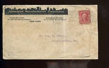 US illustrated advertising cover (Manufacturer) 1904 NYC to Mattawamkeag, Maine