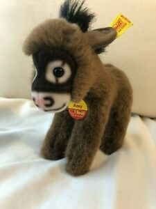"""STEIFF Donkey """"ASSY"""" with both tags"""