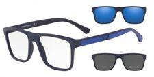 Glasses of View with 2 Clips Emporio Armani Ea4115 57591w Blue Dark Matt