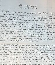 "Copy 1970 Letter ""Dating Nails / Santa Fe Rwy"" Interesting History on Date Nails"