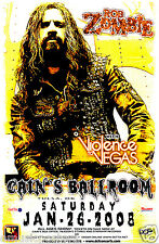ROB ZOMBIE / VIOLENCE TO VEGAS 2008 TULSA CONCERT TOUR POSTER