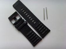 DIESEL Original Ersatzband Lederband Lederarmband DZ1300 Uhrband schwarz 28 mm