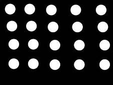 "20 WHITE POLKA DOTS 2"" STICKER DECALS WALL CAR COLLEGE TEACHER DECORATE *A45*"
